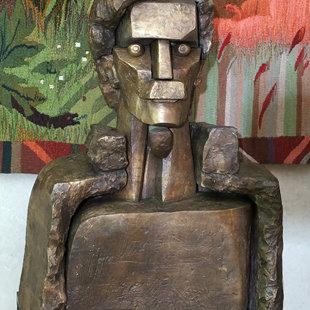 "Tālivaldis Gaumigs (1930-2016) ""Georga Smeltera portrets"", 1985. Bronza. LMS muzejs"
