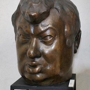 "Valentīna Zeile (1937) ""Kārlis Sebris"", 1976. Bronza, 105x54x40 cm. LMS muzejs"