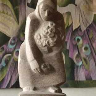 Neatpazīts autors. Bez nosaukuma. 20.gs. 70.–80.g.  H 40 cm. Granīts. LMS muzejs